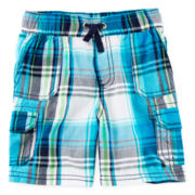 Arizona Plaid Cargo Shorts - Boys 2t-5t