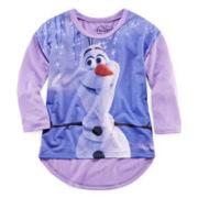 Frozen Long-Sleeve Olaf Top - Girls 7-16
