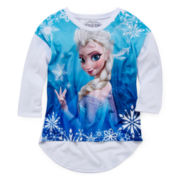 Frozen Long-Sleeve Elsa Top - Girls 7-16
