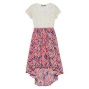 Speechless® Lace to Chiffon Dress - Girls 7-16