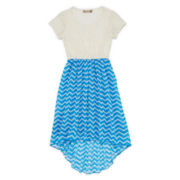 Speechless® Lace to Chiffon Dress - Girls 7-16