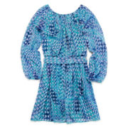 Speechless® Long-Sleeve Chiffon Dress - Girls 7-16