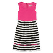 Speechless® Ponte-Knit Dress with Necklace - Girls 7-16