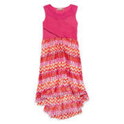 Speechless® Solid-to-Print Chiffon Dress - Girls 7-16