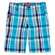 Arizona Plaid Chino Shorts - Boys 8-20, Slim and Husky