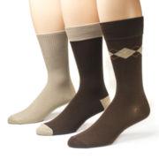 MUK LUKS® 3-pk. Bamboo Rayon Crew Socks