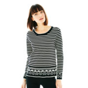 Joe Fresh™ Long-Sleeve Striped Sweatshirt