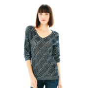Joe Fresh™ Dolman-Sleeve Pointelle Sweater