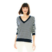Joe Fresh™ Long-Sleeve Striped Oversized Sweater
