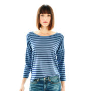 Joe Fresh™ 3/4-Sleeve Drop-Shoulder Striped Top