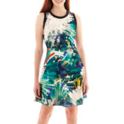 XOXO® Sleeveless Print Cutout Dress