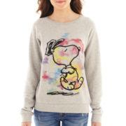Peanuts Long-Sleeve Snoopy Sweatshirt
