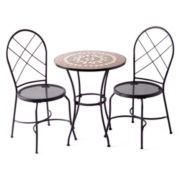 Outdoor Oasis Clinton Hill 3-pc. Mosaic Bistro Set