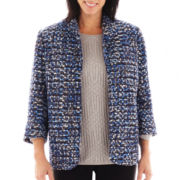Alfred Dunner® Windy City 3/4-Sleeve Tweed Jacket
