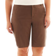 St. John's Bay® Bermuda Shorts - Plus