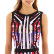 Bisou Bisou® Sleeveless Print Crop Top