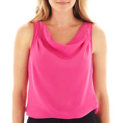 Worthington® Sleeveless Cowlneck Blouse