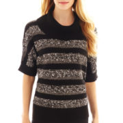 Alyx® Elbow-Sleeve Striped Cowlneck Sweater