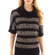 Alyx® Elbow-Sleeve Striped Cowlneck Sweater