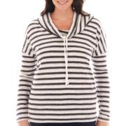 St. John's Bay® Long-Sleeve Cowlneck Tunic - Plus