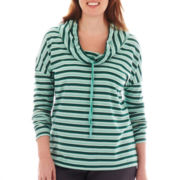 St. John's Bay® Long-Sleeve Cowlneck Tunic - Plus