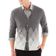 JF J. Ferrar® Argyle Cardigan Sweater
