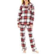 Liz Claiborne® Flannel Long-Sleeve Pajama Set
