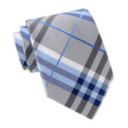 Stafford Casey Jones Plaid Tie–Extra Long