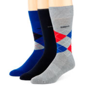 IZOD® 3-pk. Cushioned Argyle Crew Socks