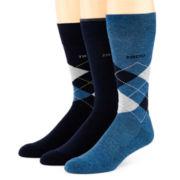 IZOD® 3-pk. Cushioned Argyle Crew Socks