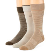 IZOD® 3-pk. Striped Cushion Crew Socks