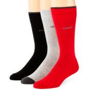 IZOD® 3-pk. Cushioned Casual Crew Socks