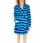 Flirtitude® Long-Sleeve Plush Short Robe