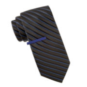 JF J. Ferrar® Galveston Stripe Slim Tie