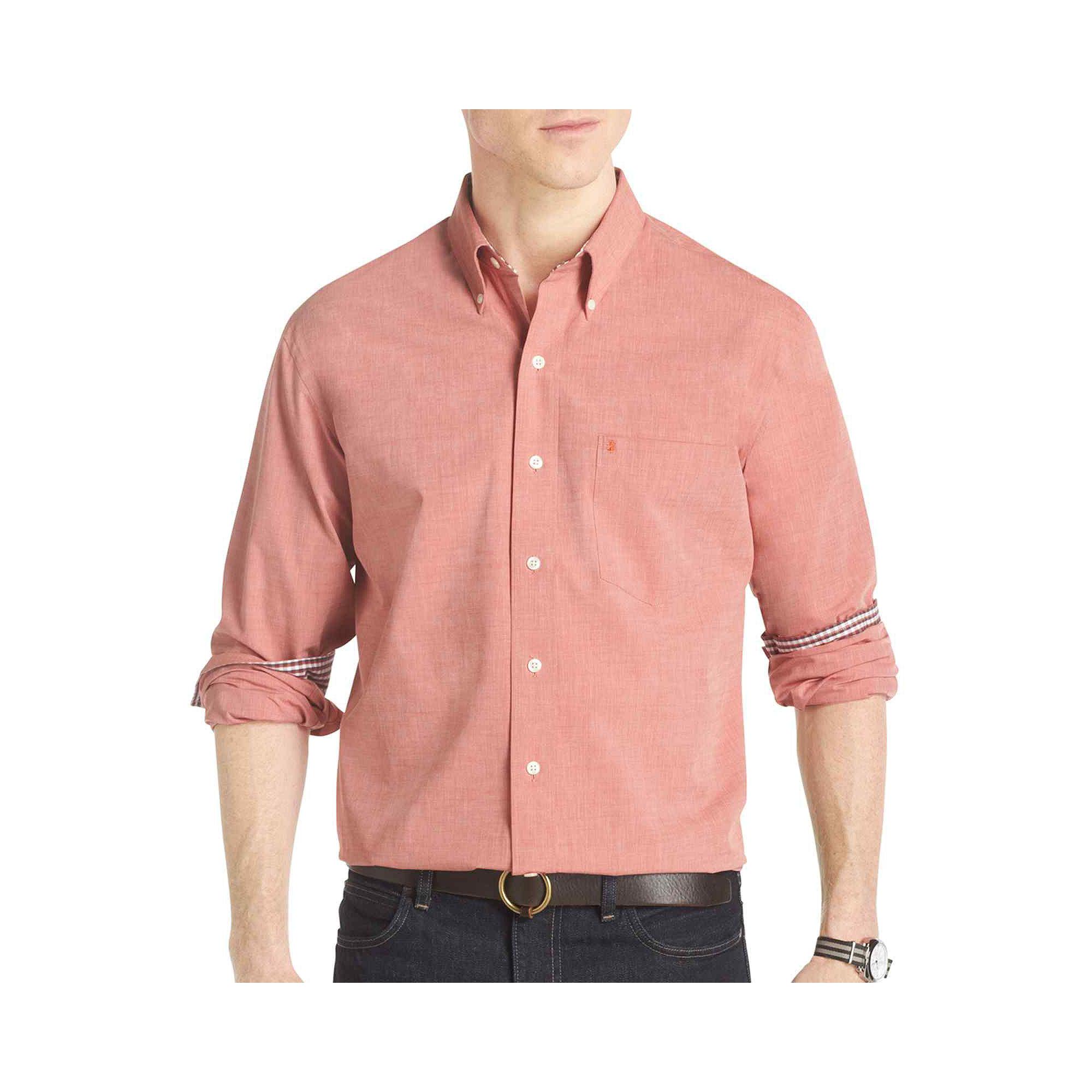 Upc 014056664246 Izod Long Sleeve Poplin Shirt Upcitemdb