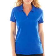 St. John's Bay® Short-Sleeve Johnny Collar Polo Shirt