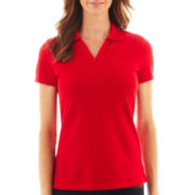 St. John's Bay® Short-Sleeve Johnny Collar Polo Shirt
