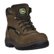John Deere Womens Waterproof Leather Hiking Boots - Wide Width