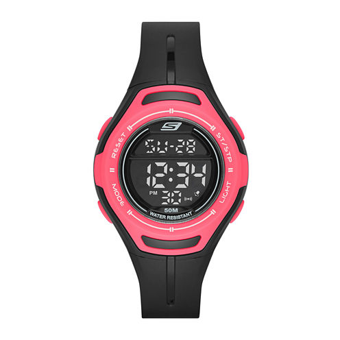 Skechers® Performance Womens Sport Digital Chronograph Watch with Negative Display