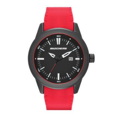 jcpenney.com | Skechers® Mens Red and Black Double-Sided Silicone Strap Watch