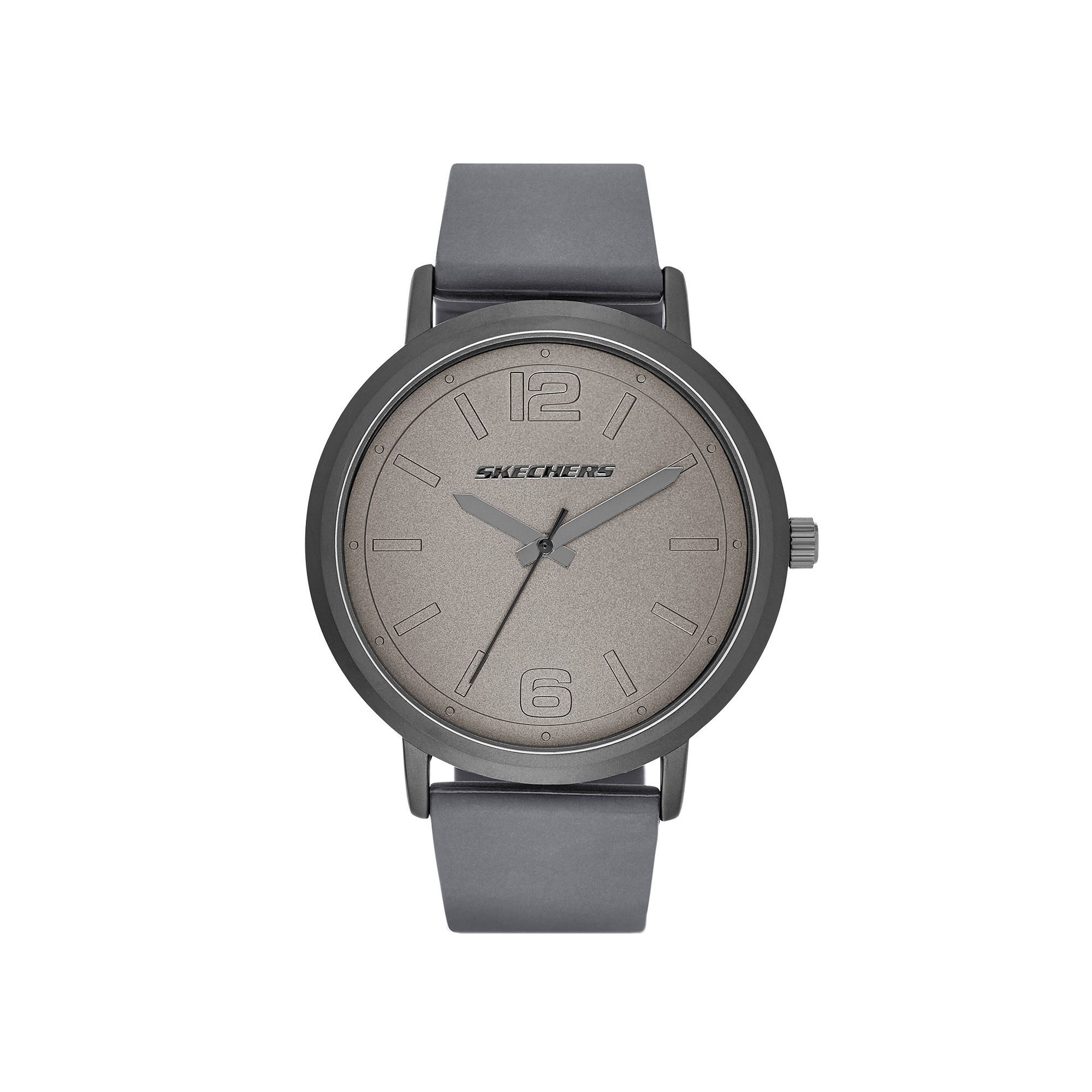 Skechers Mens Casual Gray Silicone Strap Analog Watch