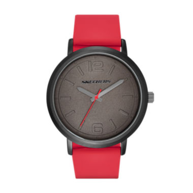 jcpenney.com | Skechers® Mens Black and Red Silicone Strap Analog Watch
