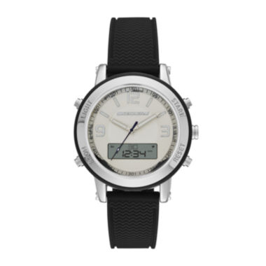 jcpenney.com | Skechers® Womens Black Silicone Strap Analog/Digital Chronograph Watch