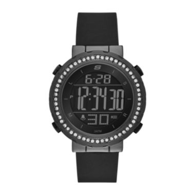 jcpenney.com | Skechers® Womens Black Dial Black Silicone Strap Digital Watch