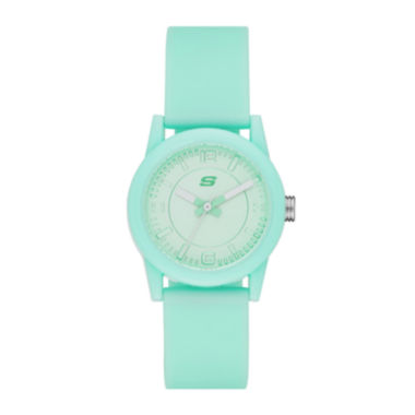 jcpenney.com | Skechers® Womens Mint Dial Mint Silicone Strap Analog Watch