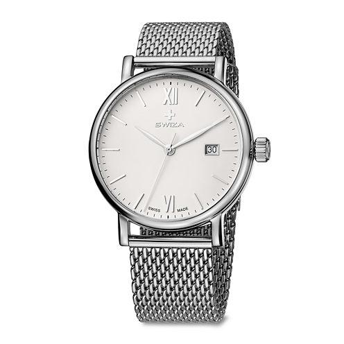 Swiza Alza Mens Stainless Steel Bracelet Watch