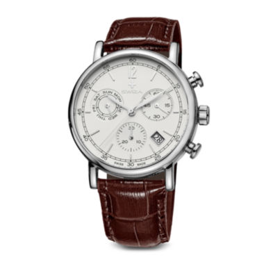 jcpenney.com | SWIZA ALZA Mens White Dial Brown Leather Strap Watch