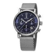 SWIZA ALZA Mens Blue Dial Silver-Tone Strap Bracelet Watch