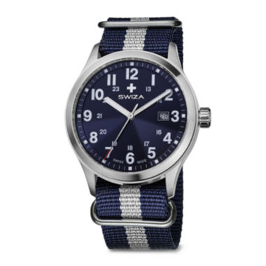 jcpenney.com | SWIZA Mens Blue and Silver Strap Watch