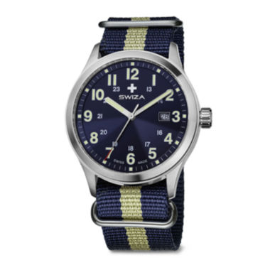 jcpenney.com | SWIZA Mens Blue and Yellow Strap Watch